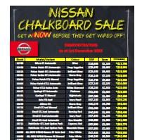 Westco Nissan Chalkboard Specials