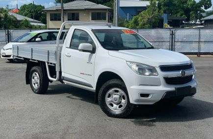 Used 2013 HOLDEN COLORADO RG Cab Chassis 2dr LX Single Cab Man 6sp 4x4 2.8DT 1372kg
