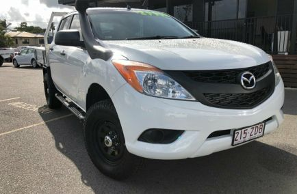Used 2015 MAZDA BT-50 UP0YF1 Cab Chassis 4dr XT Dual Cab Man 6sp 4x4 3.2DT 1271kg