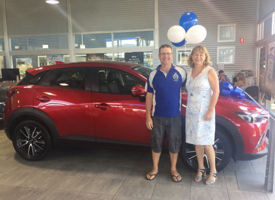 Mark & Liz taking delivery of a Mazda CX3