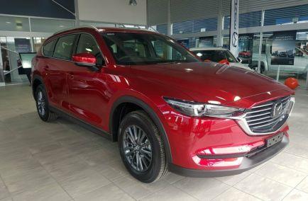 Demo 2019 MAZDA CX-8 KG2W2A Wagon 5dr Sport 7st SKYACTIV-Drive 6sp FWD 2.2DTT