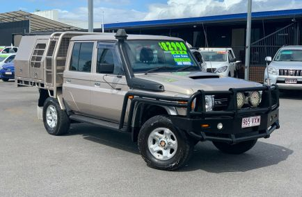 Used 2015 TOYOTA LANDCRUISER VDJ79R Cab Chassis 4dr GXL Double Cab Man 5sp 4x4 4.5DT