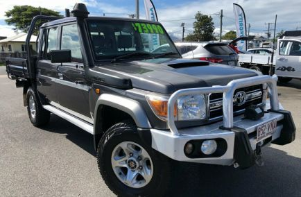Used 2014 TOYOTA LANDCRUISER VDJ79R Cab Chassis 4dr GXL Double Cab Man 5sp 4x4 4.5DT