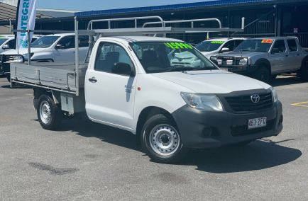 Used 2015 TOYOTA HILUX TGN16R Cab Chassis 2dr Workmate Single Cab Man 5sp 4x2 2.7i 1405kg