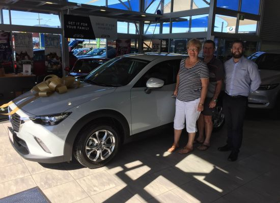 Darryl & Diane taking delivery of a Mazda CX3