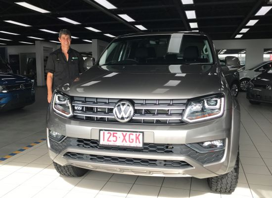 Andre taking delivery of a Volkswagen Amarok