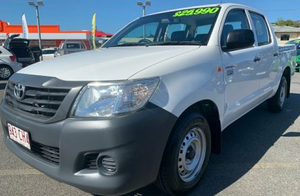 2014 TOYOTA HILUX Workmate  TGN16R  Dual Cab Utility