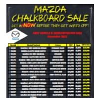 Westco Mazda Chalkboard Specials