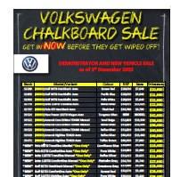 Westco Volkswagen Chalkboard Specials